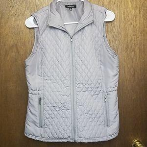 Medium Gray Quilted Puffer Vest